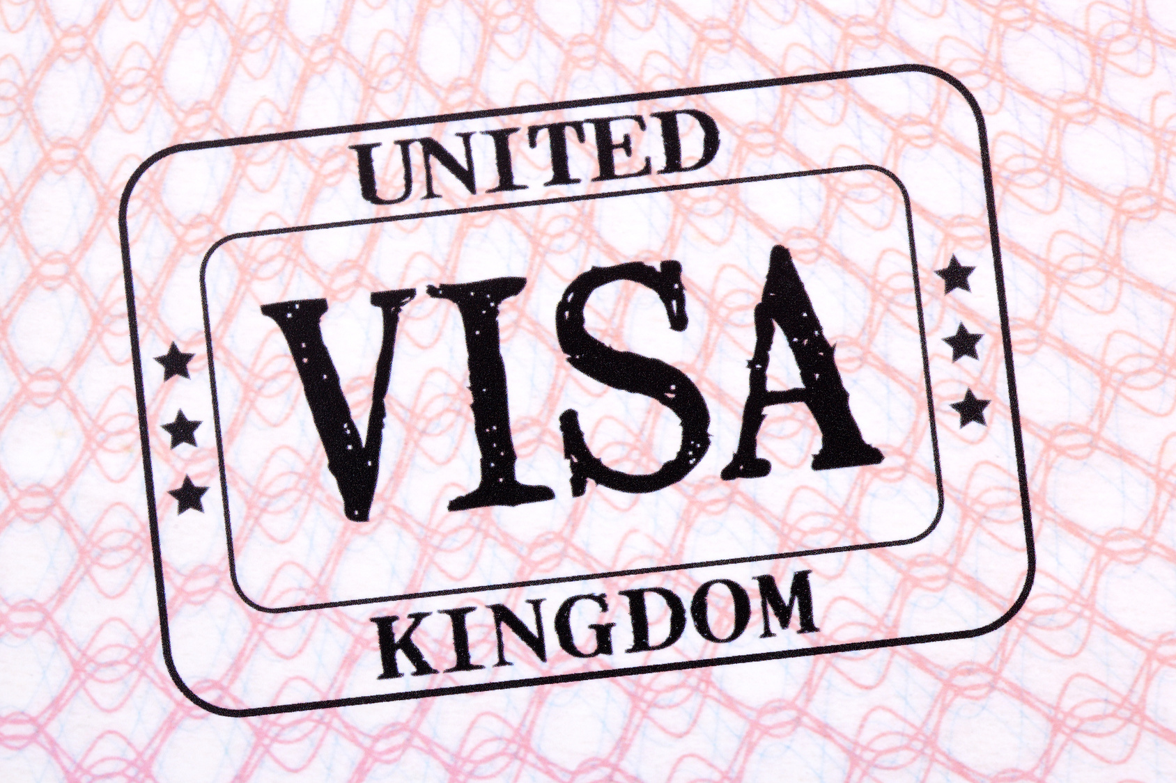 UK Tier 2 visa stamp